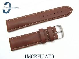Pasek MORELLATO CASTAGNO skórzany brązowy