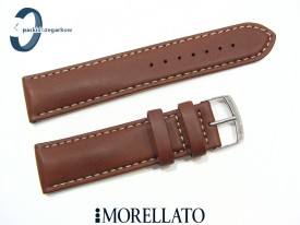 Pasek MORELLATO CASTAGNO skórzany 18 mm brązowy