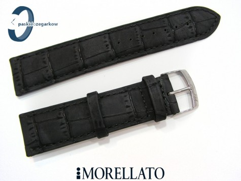 Pasek MORELLATO LARICE czarny skórzany