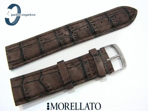 Pasek MORELLATO LARICE brązowy skórzany