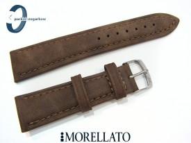 Pasek MORELLATO MELOGRANO brązowy skórzany
