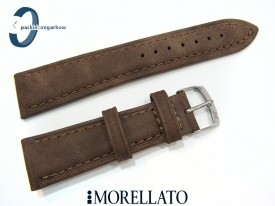 Pasek MORELLATO MELOGRANO 20 mm brązowy skórzany