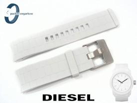 Pasek DIESEL DZ1436 biały gumowy