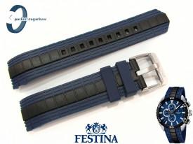 Pasek Festina F16664 gumowy czarno-granatowy