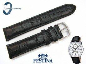 Pasek Festina F16823 skórzany czarny 22 mm