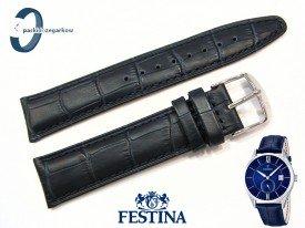 Pasek Festina F16872 skórzany granatowy 21 mm