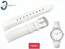 Pasek Timex T2P164 skórzany biały perłowy 18 mm
