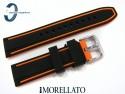 Pasek MORELLATO TARIM SILICONE 20 mm, czarno-pomarańczowy