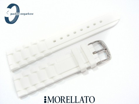 Pasek MORELLATO LENA silikonowy biały