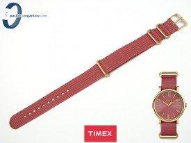 Pasek Timex TW2P78200 parciany jednoczęściowy bordowy 18 mm
