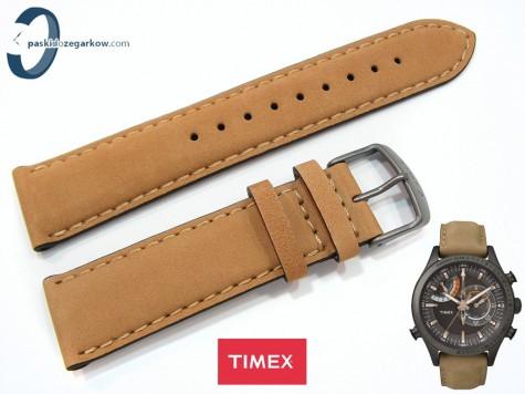 Pasek Timex TW2P72500 skórzany jasnobrązowy 22 mm