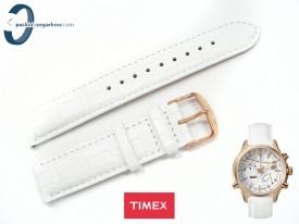 Pasek Timex TW2P87800 skórzany biały 22 mm
