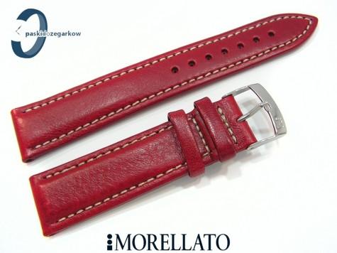 Pasek MORELLATO VOYAGER skórzany czerwony
