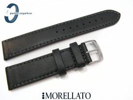 Pasek MORELLATO DELTA skórzany 20 mm czarny