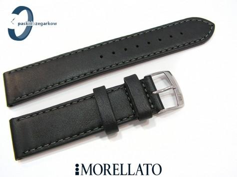 Pasek MORELLATO DELTA skórzany czarny