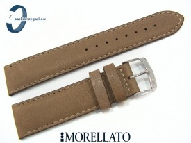 Pasek MORELLATO DELTA skórzany brązowy gliniany