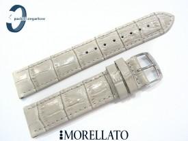 Pasek MORELLATO SAMBA skórzany szary 20 mm
