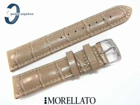 Pasek MORELLATO SAMBA skórzany beżowy