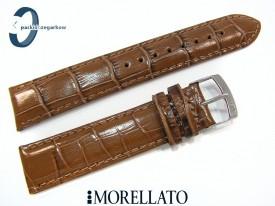Pasek MORELLATO SAMBA skórzany brązowy
