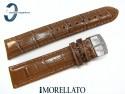 Pasek MORELLATO SAMBA skórzany brązowy 22 mm