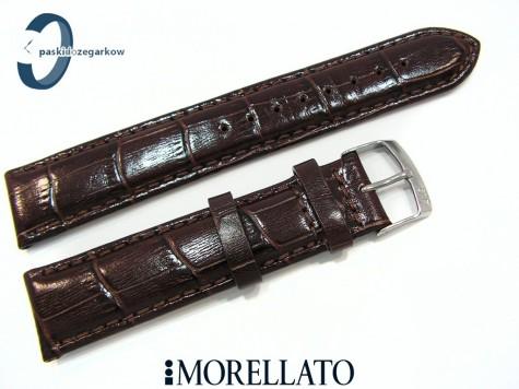 Pasek MORELLATO SAMBA skórzany ciemny brąz