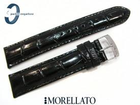 Pasek MORELLATO SAMBA skórzany czarny 22 mm