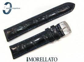Pasek MORELLATO SAMBA skórzany granatowy 20 mm