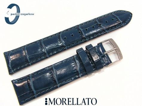 Pasek MORELLATO SAMBA skórzany niebieski