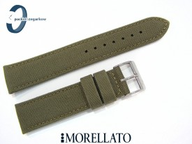 Pasek MORELLATO CORDURA materiałowo-skórzany zielony 22 mm
