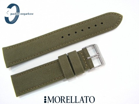 Pasek MORELLATO CORDURA materiałowo-skórzany zielony