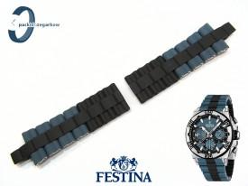 Pasek do Festina F16659 stalowo-gumowy w kolorach czarno-szary