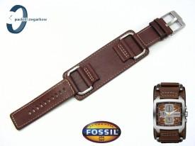 Pasek Fosssil JR1197 skórzany brązowy z podkładką