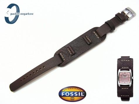 Pasek Fossil JR1158 skórzany brązowy z podkładką