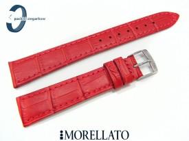 Pasek MORELLATO AUGUSTA skórzany czerwony