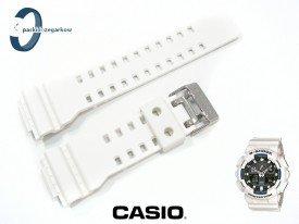 Pasek Casio GA-100B-7A, GA-110RG-7A, GA-100, GA-110, GD-100, GD-110, GA-120, GD-120, GAC-100, G-8900, GAX-100 biały matowy