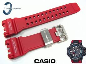 Pasek Casio GPW-1000RD-4A, GPW-1000 carbon czerwony