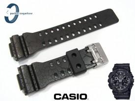 Pasek Casio GA-100CG-1A, GA-100CG, GA-100, GA-110, GA-120, GD-100, GD-110, GD-120, GAX-100 czarny półmat wzór