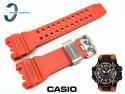 Pasek Casio GPW-1000-4A, GPW-1000 pomarańczowy carbon