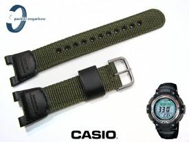 Pasek Casio SGW-100, SGW-100B-3V skórzano-parciany zielony