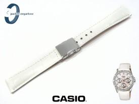 Pasek Casio Sheen SHN-3013L-7A, SHN-3013 biały skórzany