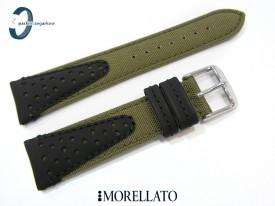 Pasek MORELLATO VOLLEY CORDURA skórzano-materiałowy wodoodporny czarno-zielony