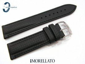 Pasek Morellato RACE czarny skórzany