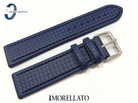 Pasek MORELATO CAPOETRA skórzano-materiałowy niebieski 22 mm