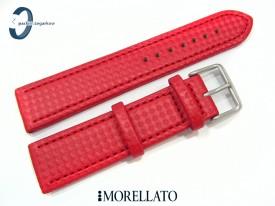 Pasek MORELATO CAPOETRA skórzano-materiałowy czerwony 22 mm