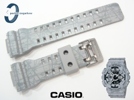 Pasek Casio GA-110SL-8A, GA-100, GA-110, GA-120, GD-100, GD-110, GD-120, GAX-100, G-8900, GAC-100, GA-300 szary matowy, wzór
