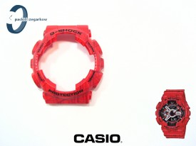 Bezel Casio GA-110SL-4A, GA-100, GA-110, GA-120, GD-100, GD-110, GD-120, GAX-100 czerwony matowy, wzór