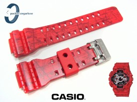 Pasek Casio GA-110SL-4A, GA-100, GA-110, GA-120, GD-100, GD-110, GD-120, GAX-100, G-8900, GAC-100 czerwony matowy, wzór