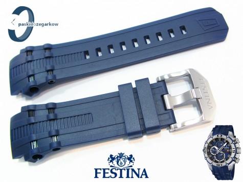 Pasek Festina F16601 gumowy granatowy