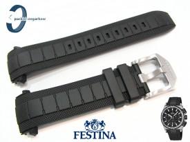 Pasek Festina F16971, F16970 czarny gumowy