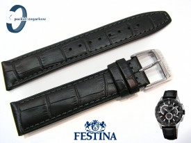 Pasek Festina F20201 czarny skórzany 21 mm
